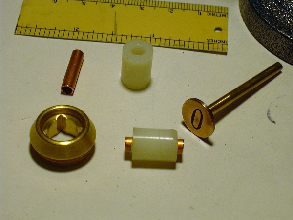faucet seat used to make pushbutton assembly