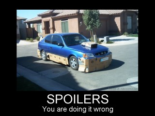 Spoilers -- You're doing it wrong