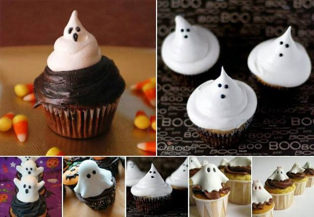 A different type of Art -- Ghost Cupcakes for Halloween