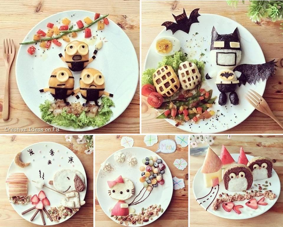 A different type of Art -- Creative Breakfast — with Dalia Simon.-- произведение искусства еды в Японском стиле.