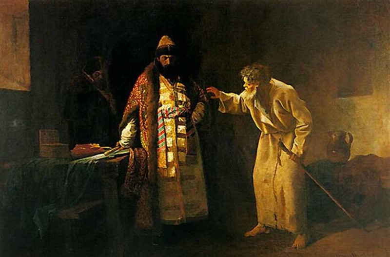 Царь Иоанн Грозный в келье Николы Салоса