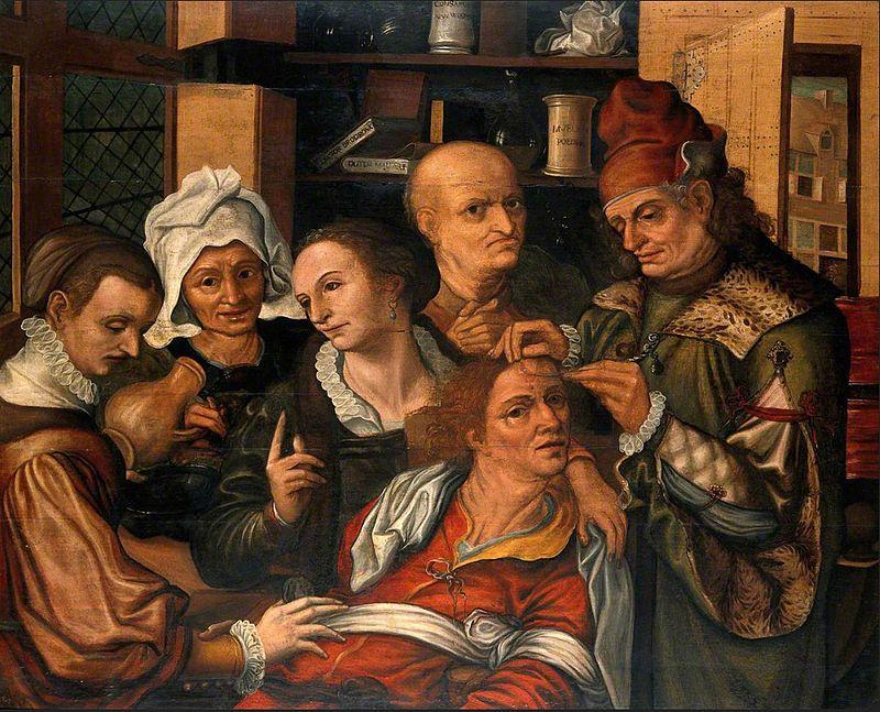 Питер ван Гюйс. Хирург, извлекающий камень глупости. Ок. 1545