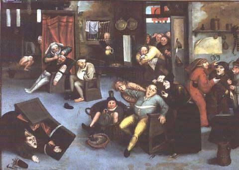 Питер Брейгель-старший. Вырезание камня безумия, или Операция на голове. Ок. 1550