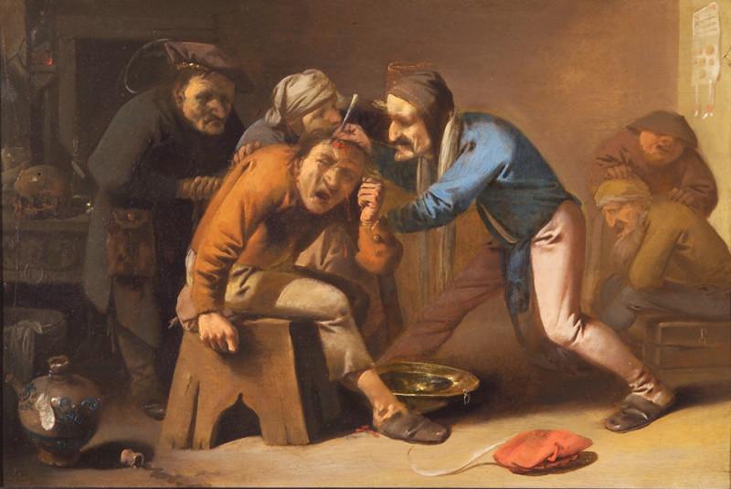 Питер Кваст. Операция по извлечению камня. Около 1630