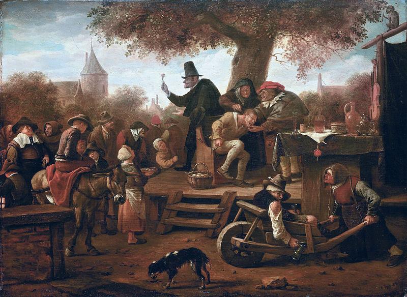 Ян Стен. Шарлатан извлекает камень безумия. Ок. 1650 – 1660.
