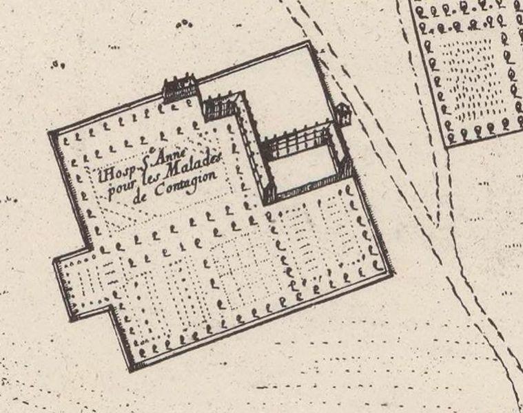 Госпиталь по плану Жувена де Рошфора, 1672 год