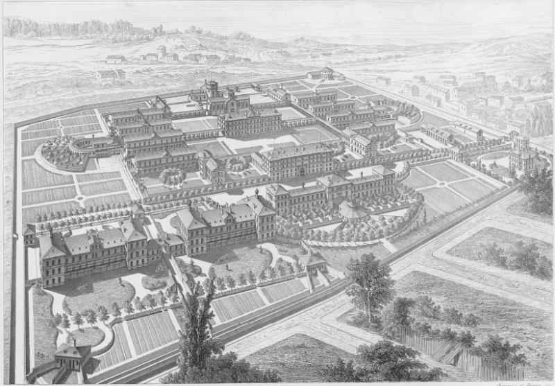 Так выглядел приют Сент-Анн в 1877 году