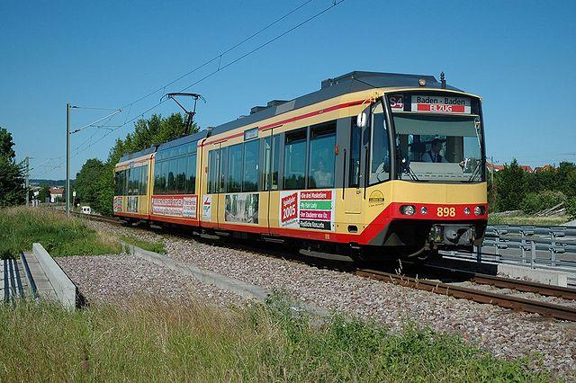 Трамвай-поезд, г.Карлсруэ