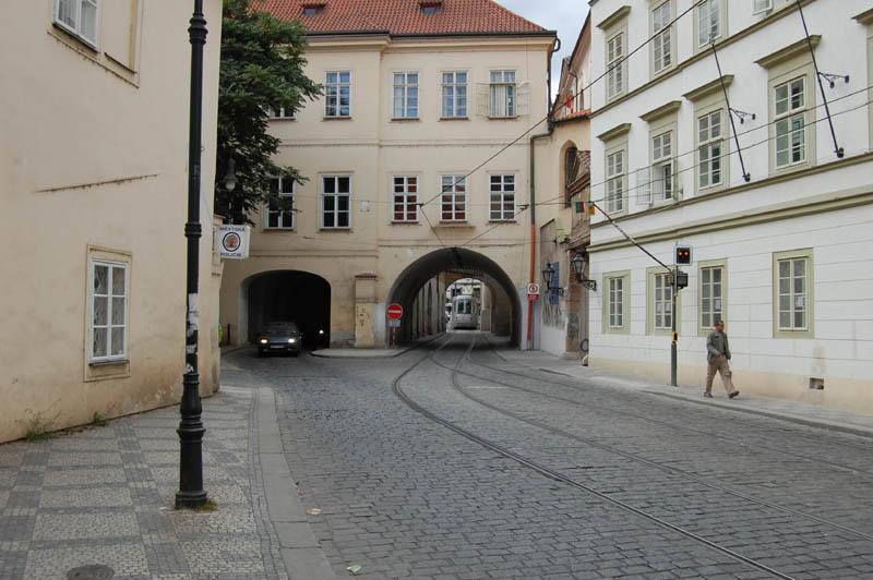Однопутный трамвай, Прага