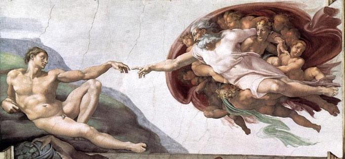 Сотворение Мира Микеланджело