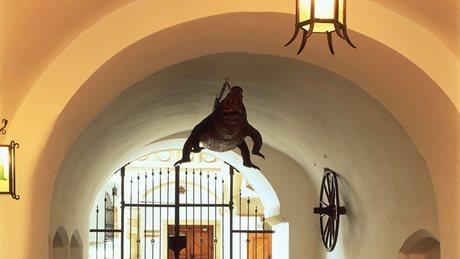 Крокодил в Брно Старая ратуша