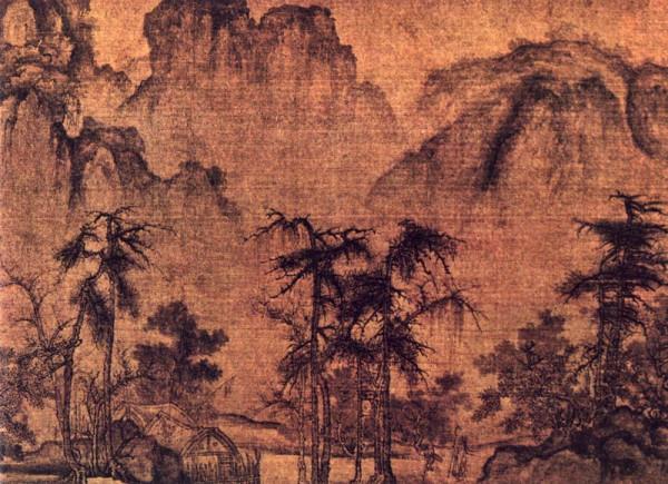 Осень в долине желтой реки картина Го Си