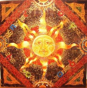 Солнце - архетипическое изображение на ковре