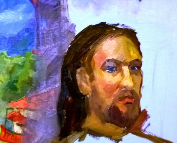 Слабинский В.Ю., набросок портрета, 2013