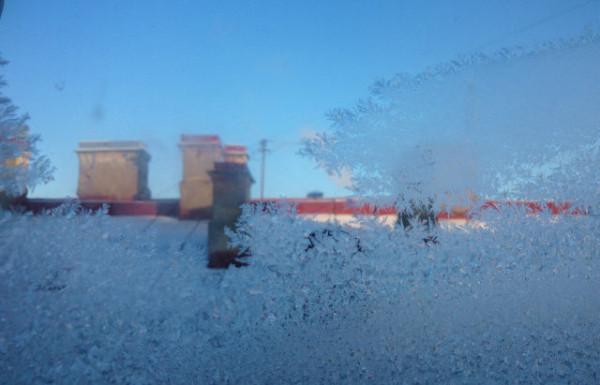 Наше окно зимой январь 2014