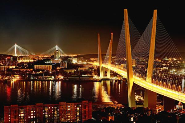 Владивосток. Ночные мосты