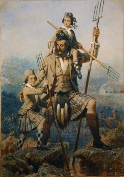 Лосось ловля королевская семья Шотландия