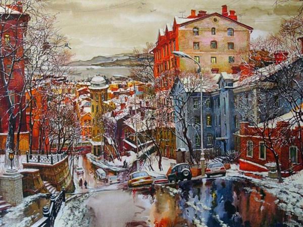 Евгений и Оксана Осиповы Владивосток зимой