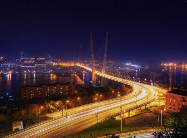 Владивосток. Ночной мост