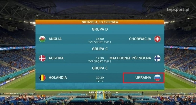 Перепуточка по Фрейду случилась в эфире польского телеканала TVP Sport: в момент анонса матчей, назначенных на 12.06.2021, напротив Украины появился флаг РФ.