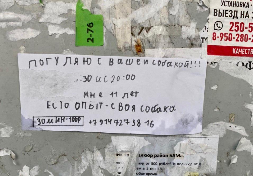 На одном из подъездов «города нашенского» заметил вот такое объявление...