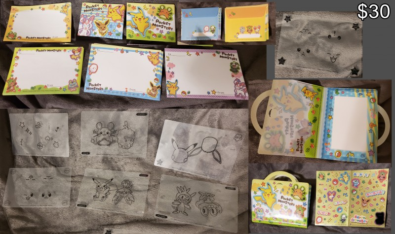 includes letter set, stickers, and tracing stencils