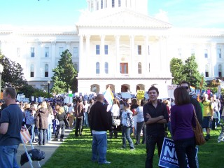 protest Sunday in Sacramento