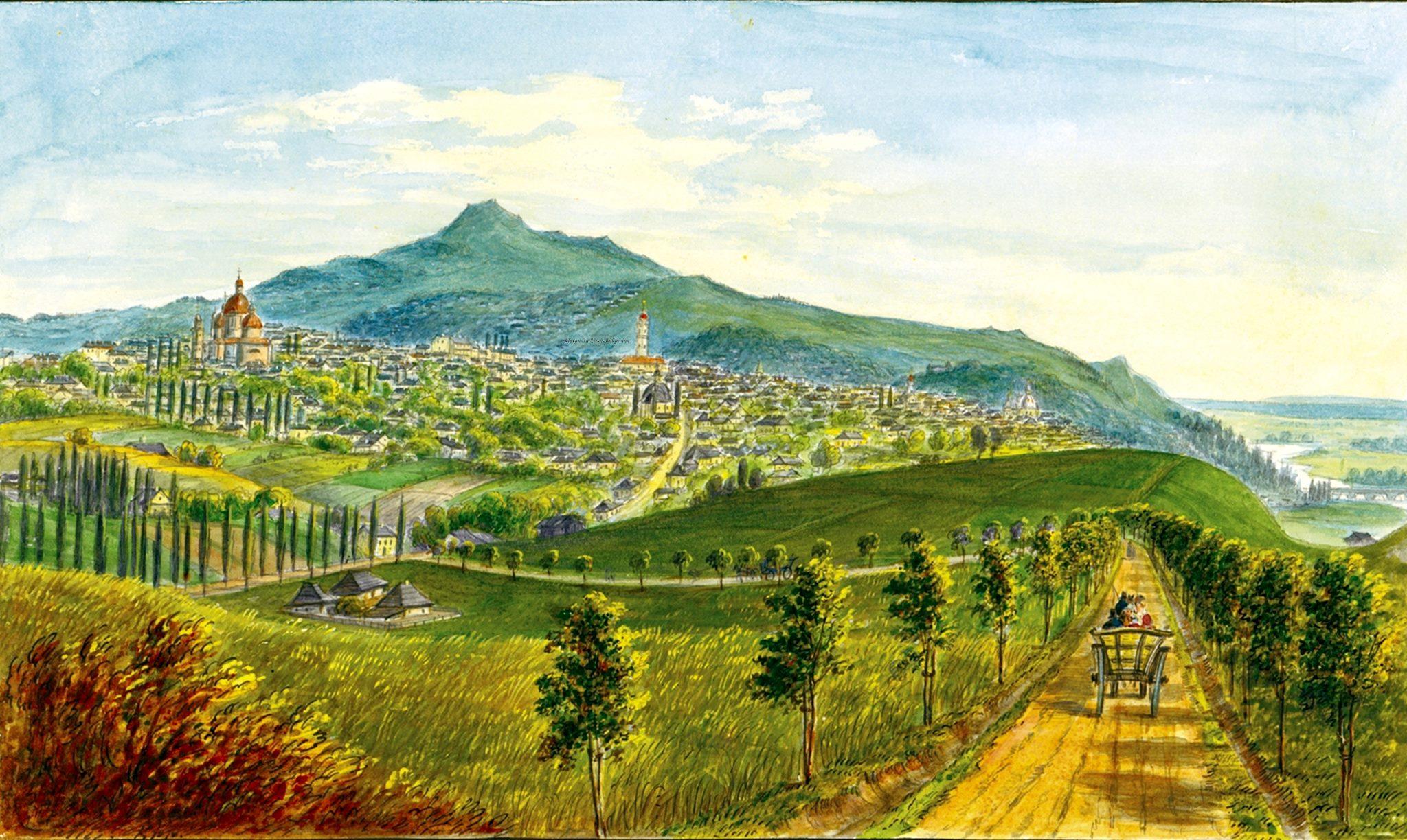 Oameni si locuri din Bucovina.Landes Haupt Stadt Czernowitz.1867.Franz Xavier Knapp(1809-1883).
