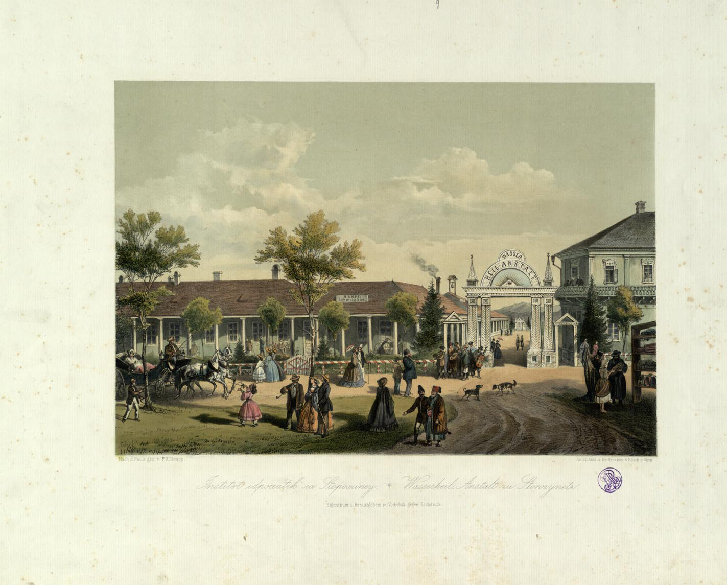 Institutul idropatik la Storozineţ ; Wasserheil - Anstalt zu Storozynetz ; F. X. Knapp ;