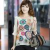 Beige-Summer-women-blouse-super-good-texture-back-pleats-large-size-retro-print-chiffon-shirt-XXXL-XXXXL