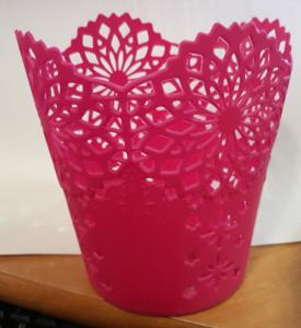 plast kruzevn vedro roz