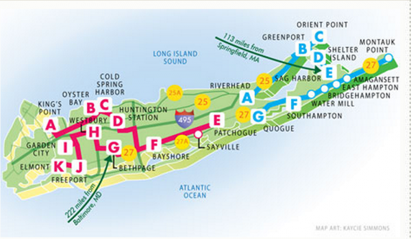 Long Island Trip root map