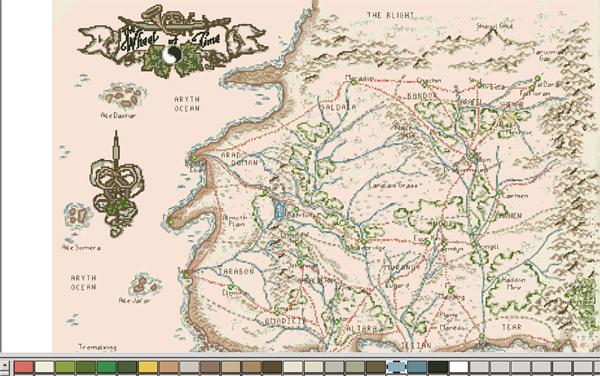 Схема карты Рандляндии для