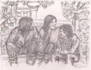 Aragorn, Arwen and Frodo
