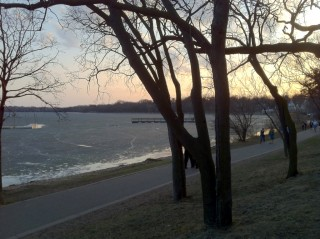 Lake Harriet, north side.  March 17, 2012