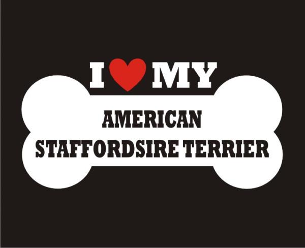 American Staffordshire Terrier-bone