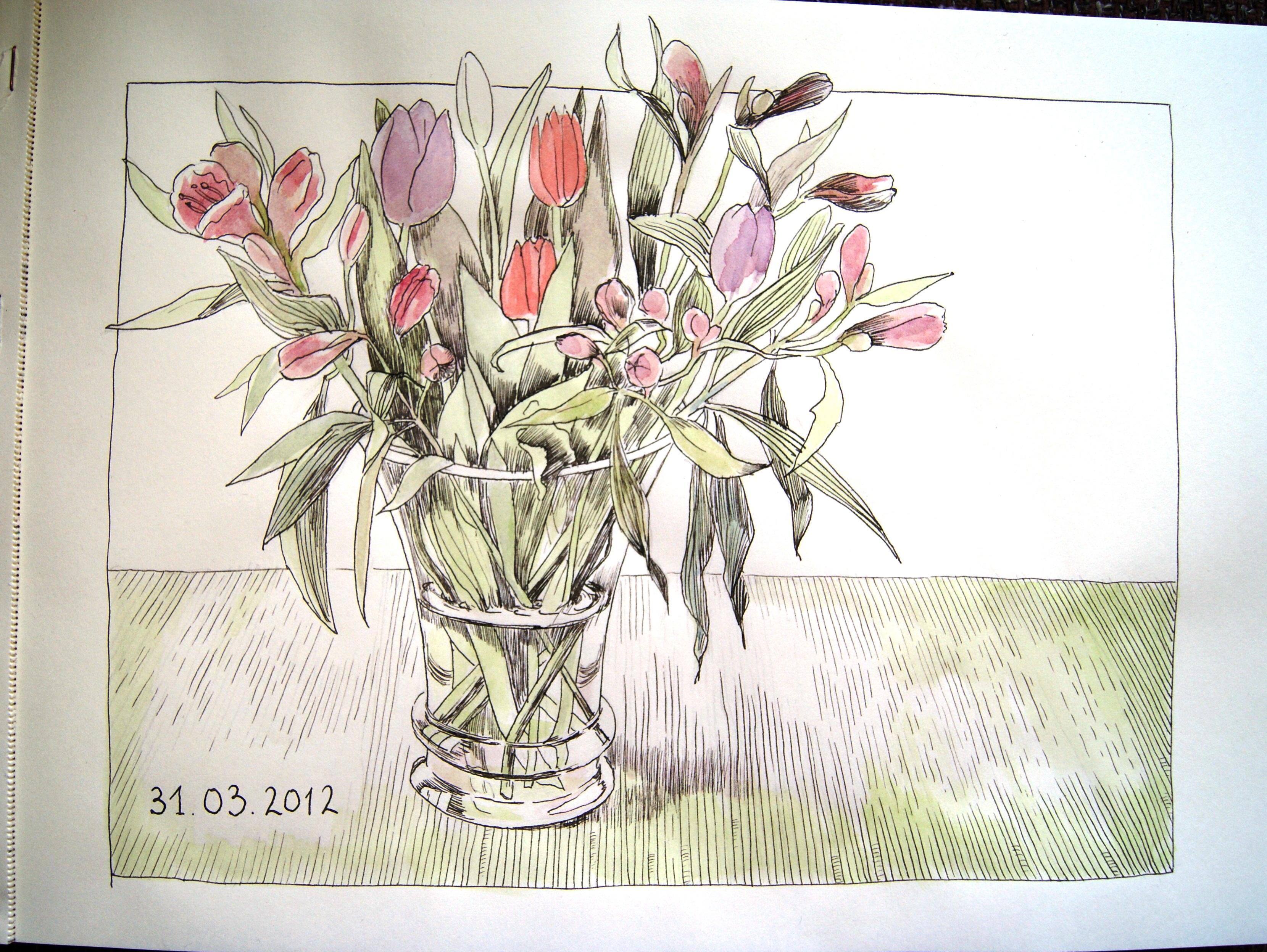 рисунки тушью и карандашом: