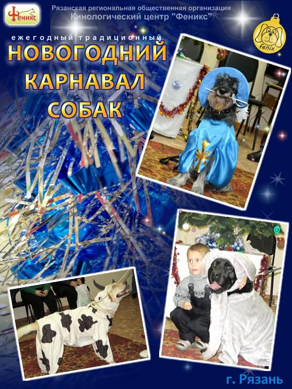 новогоднее представление для детей в Рязани - Карнавал собак 2018