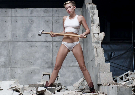 Miley Cyrus Wrecking Ball Swings Back To No 1 On Hot 100