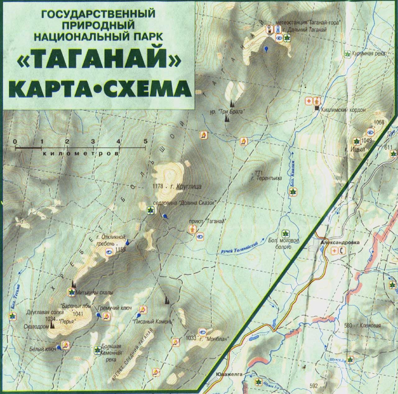 Карта Таганая