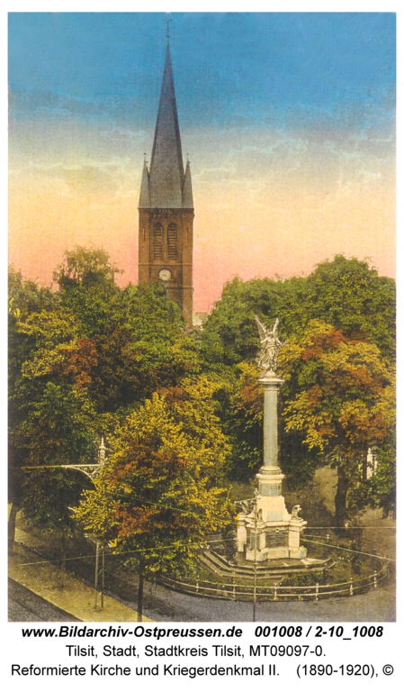 ID001008-Tilsit-Reformierte_Kirche_undt_Kriegerdenkmal_II