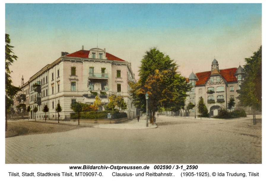 ID002590-Tilsit-Clausius-_und_Reitbahnstr_ca1910