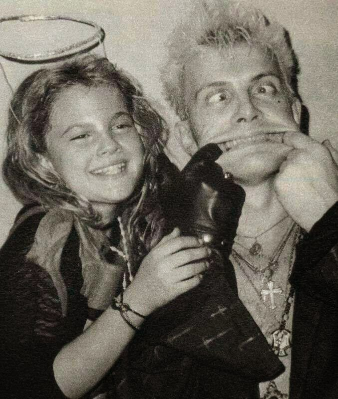 Drew Barrymore clubbing with Billy Idol in 1984