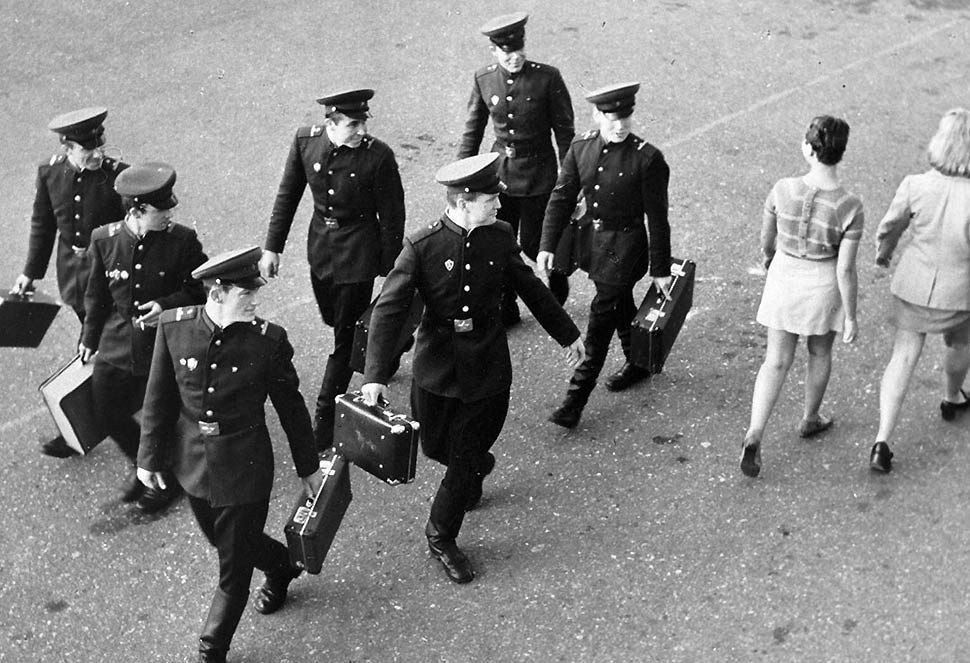 Miniskirts just coming into fashion in Latvia, ca. 1965