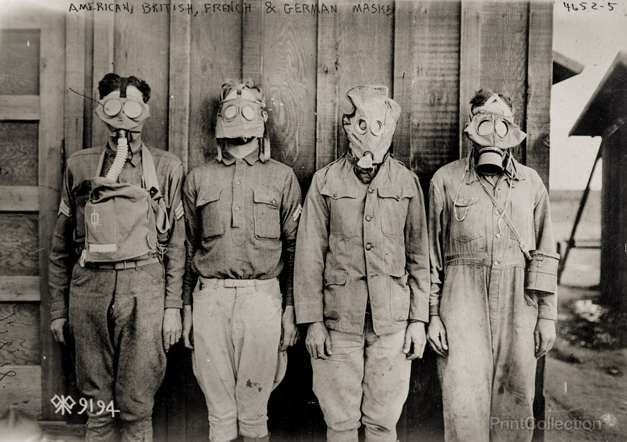 american-british-french-german-gas-masks