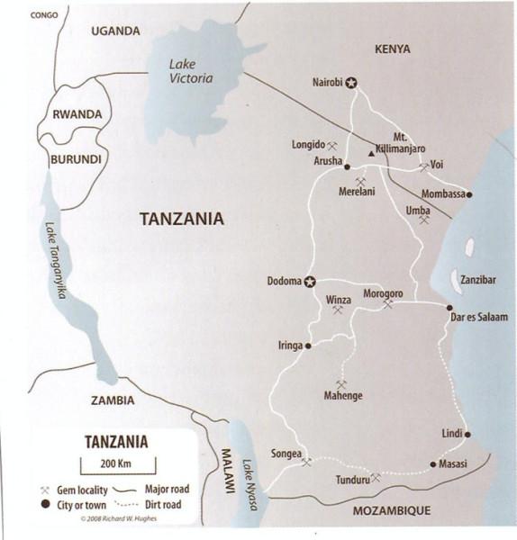 танзания месторождения