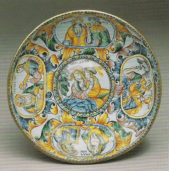 Живописная эмаль (финифть) Россия, Сольвычегорск, конец XVII века.