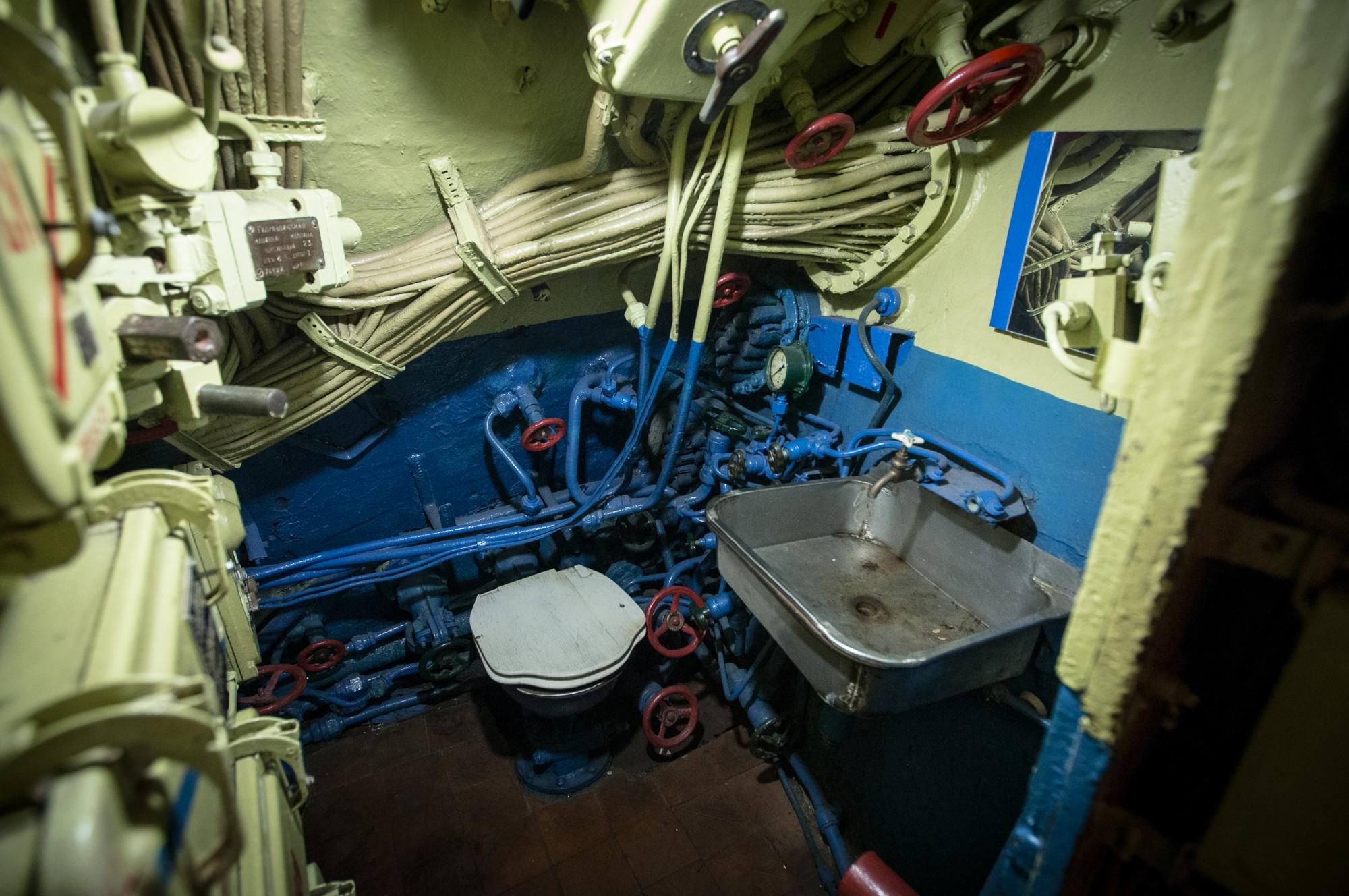 Гальюн — корабельный туалет на лодке Б-274
