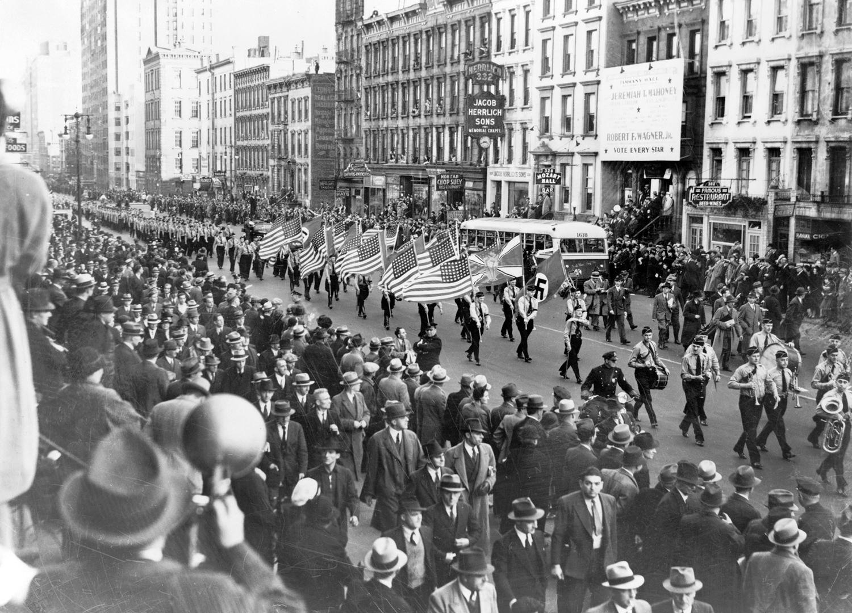 Шествие Германо-американского союза по Нью-Йорку, 1939 г.