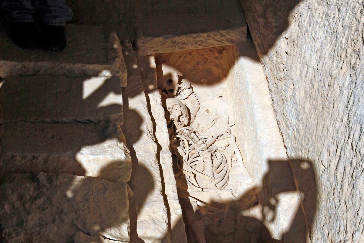 Скелет египетской царицы Клеопатры